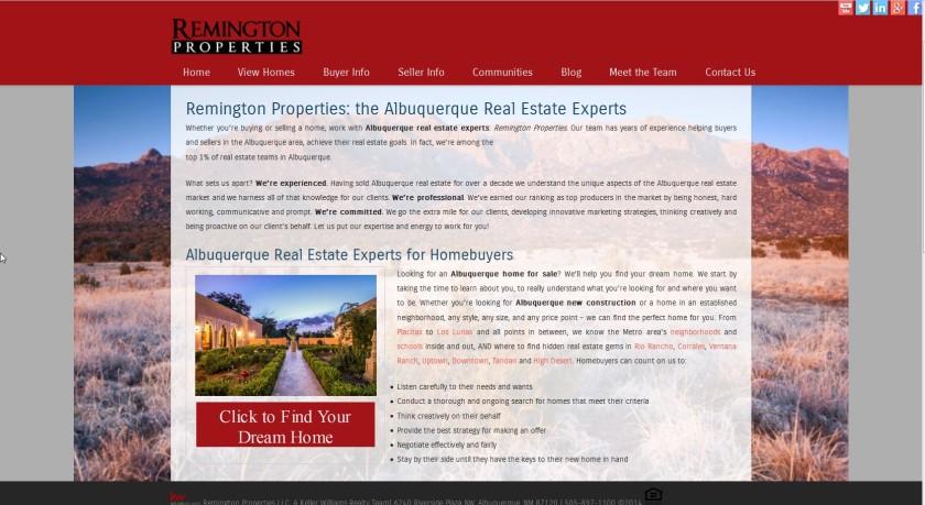 Remington Properties Website